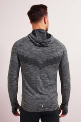 Every Second Counts Make It Count Hoody Grey Marl image 3 - The Sports Edit