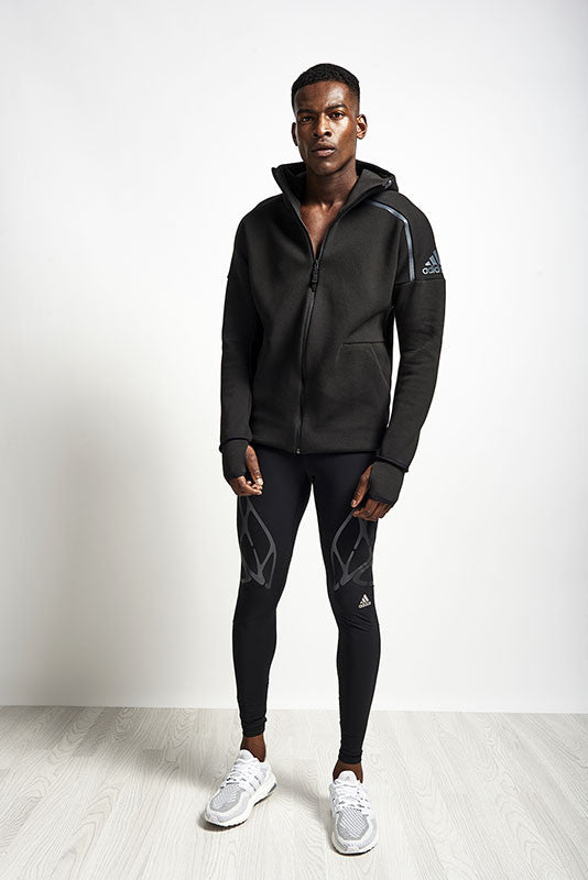 ADIDAS ZNE Hoodie Black image 5 - The Sports Edit