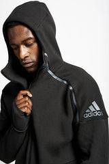 ADIDAS ZNE Hoodie Black image 3 - The Sports Edit
