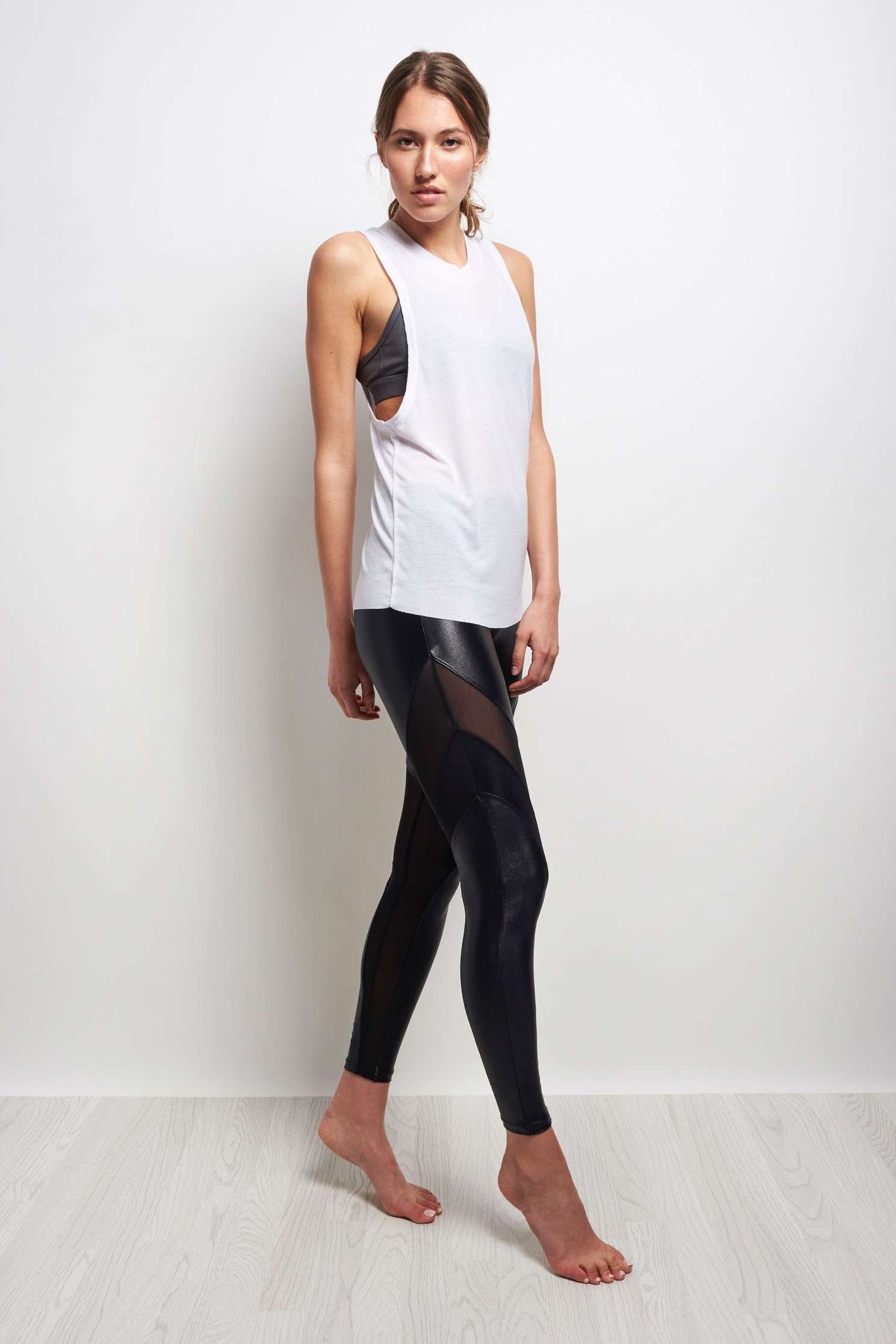 Alo Yoga Heat Wave Tank - White image 2 - The Sports Edit