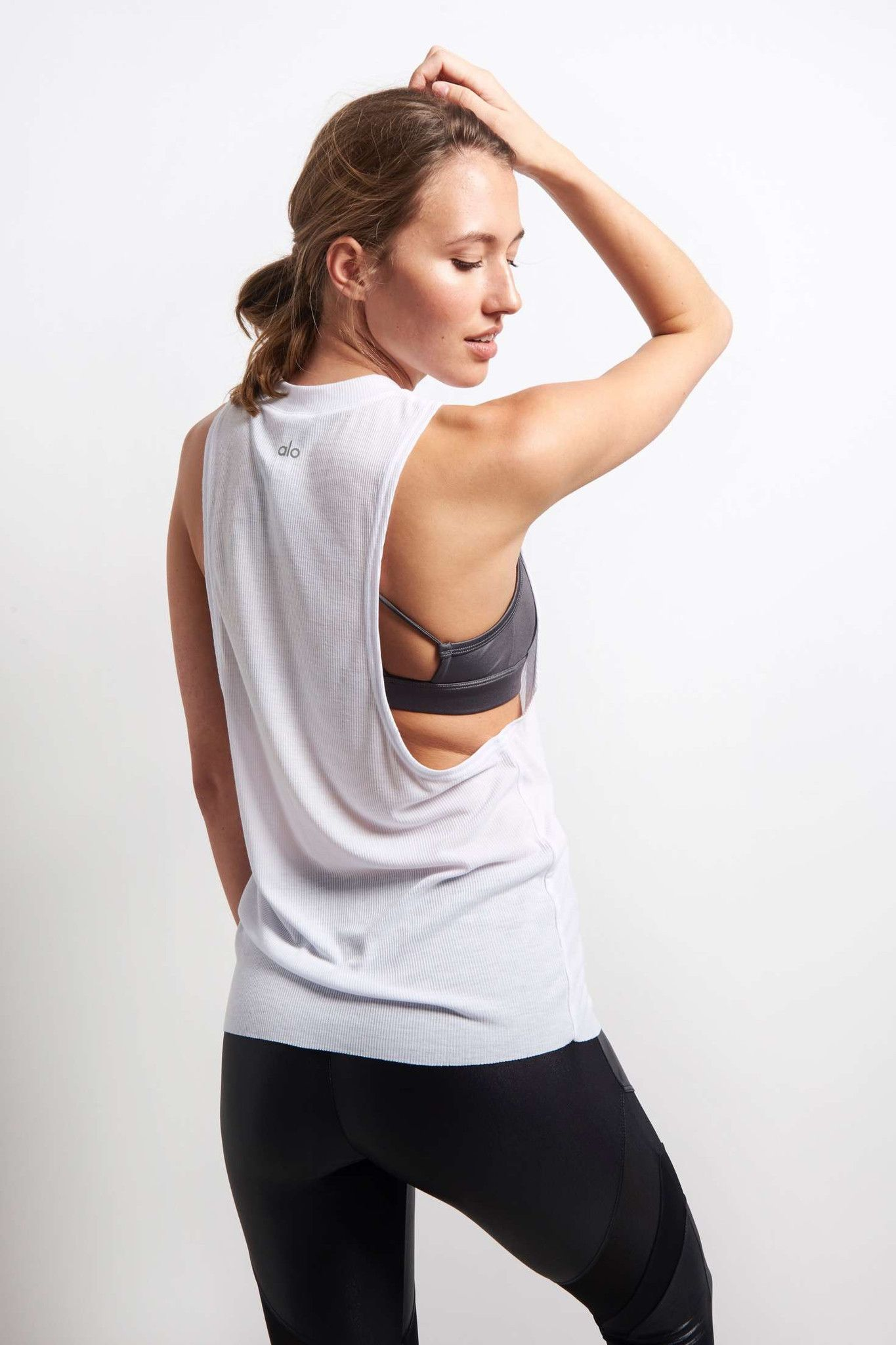 Alo Yoga Heat Wave Tank - White image 3 - The Sports Edit