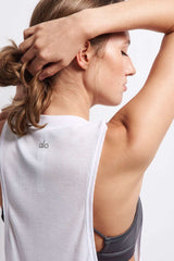 Alo Yoga Heat Wave Tank - White image 4 - The Sports Edit