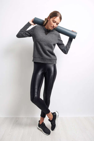 Alo Yoga Downtown Long Sleeve - Charcoal image 2 - The Sports Edit