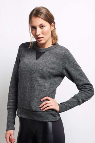 Alo Yoga Downtown Long Sleeve - Charcoal image 1 - The Sports Edit