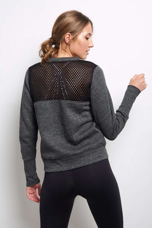 Alo Yoga Downtown Long Sleeve - Charcoal image 3 - The Sports Edit
