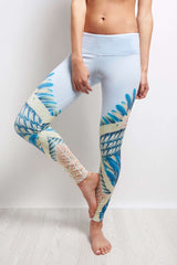 Alo Yoga Airbrush Legging - Tropical Feather image 2