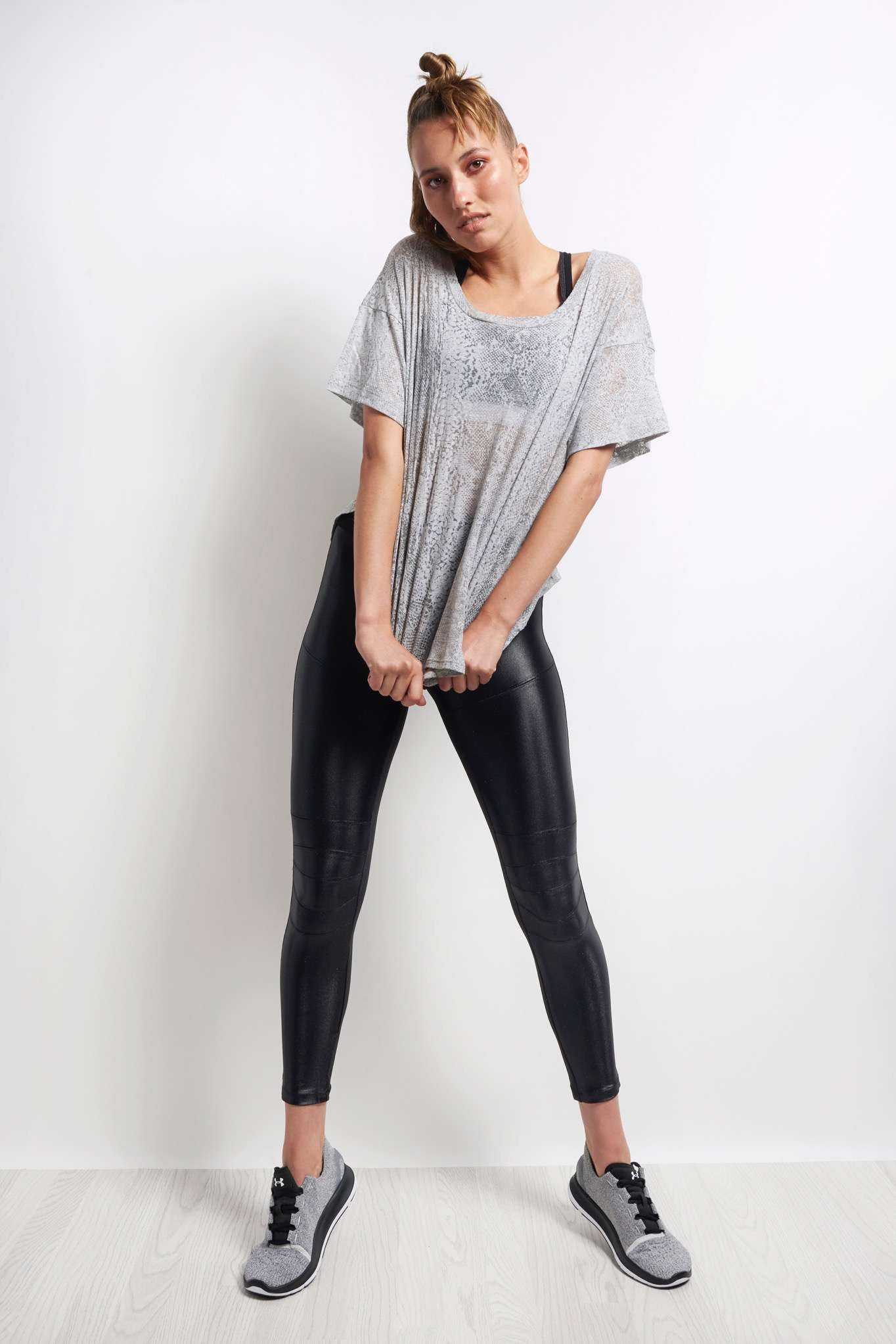 Blue Life Fit Side Slit Best Bum Tee - Grey Snake image 4 - The Sports Edit