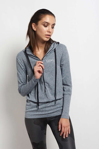 Falke RU Hoody LS W Grey image 1 - The Sports Edit
