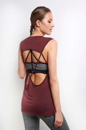 Koral Aura Tank - Wine image 2 - The Sports Edit