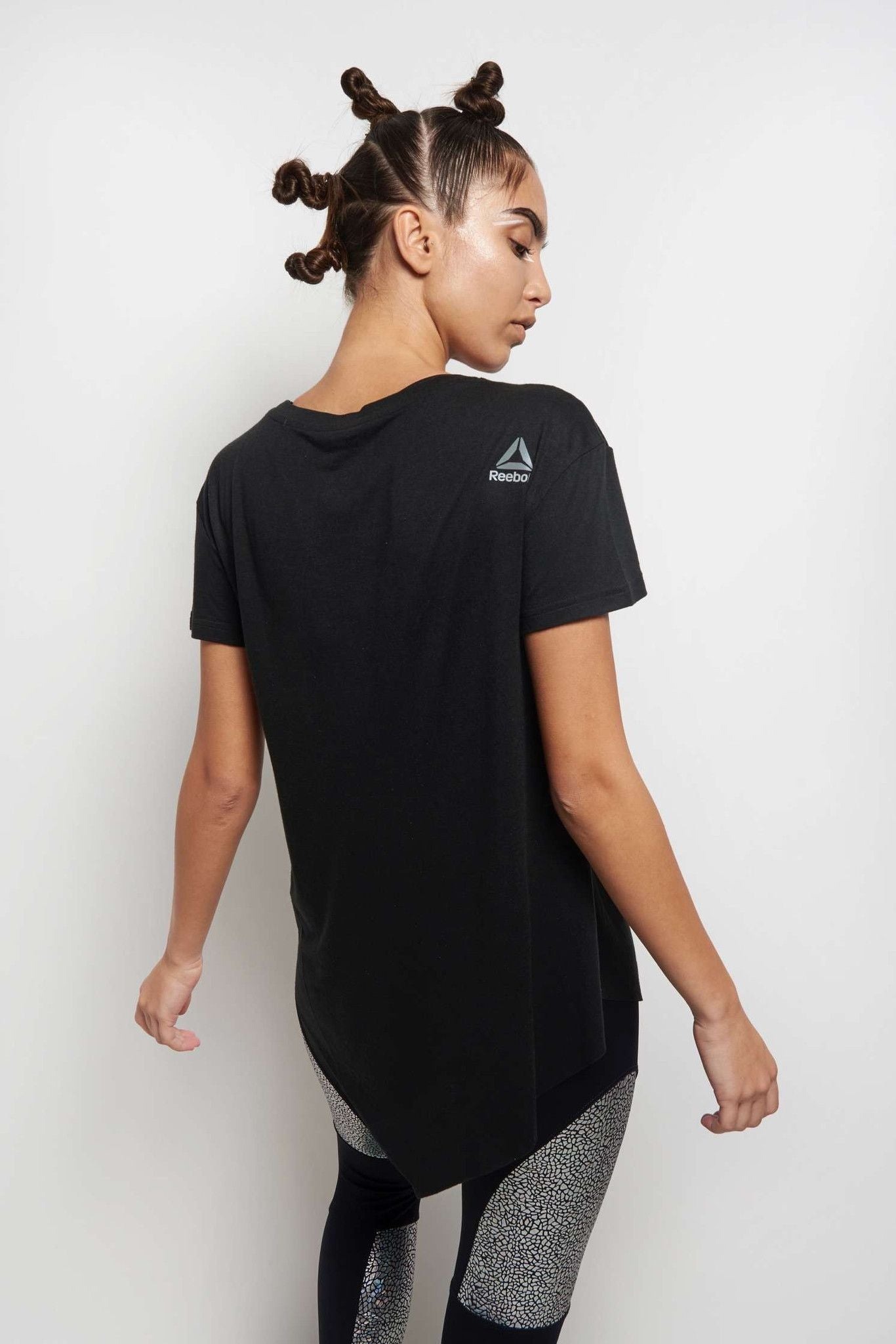 Reebok Dance Distressed Tee - Black image 2 - The Sports Edit