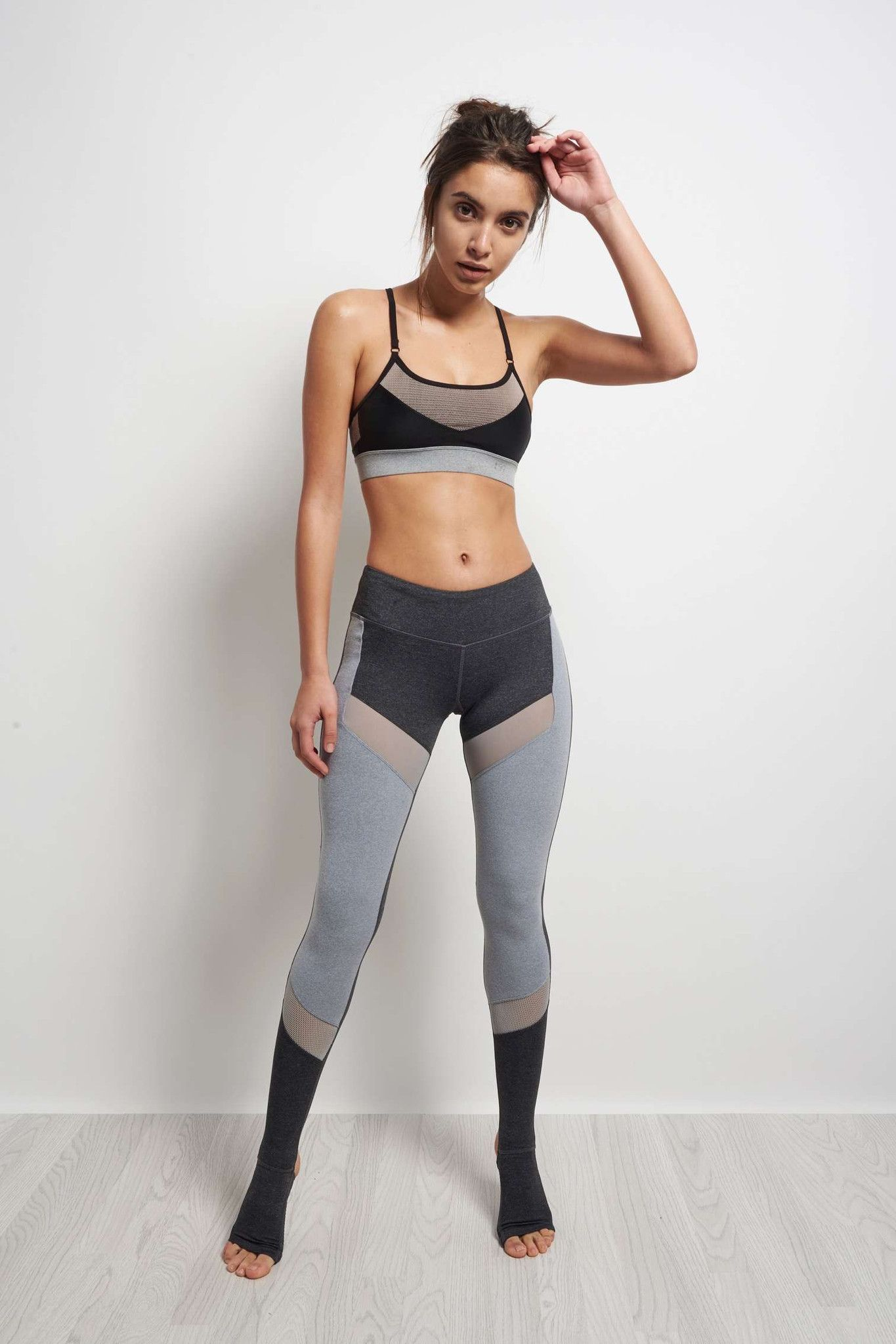 Splits59 Demi Stirrup Tight Heather Grey / Light Heather Grey image 1