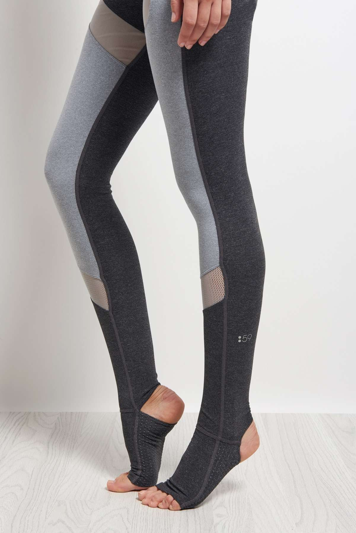 Splits59 Demi Stirrup Tight Heather Grey / Light Heather Grey image 4