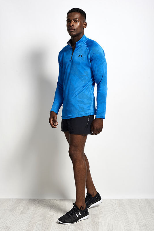 Under Armour UA Tech Jacquard 1/4 Zip BLUE image 4 - The Sports Edit