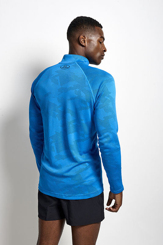 Under Armour UA Tech Jacquard 1/4 Zip BLUE image 2 - The Sports Edit
