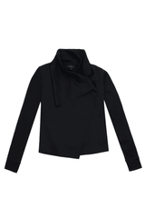 Alala Sophisticate Draped Jacket - Black image 1