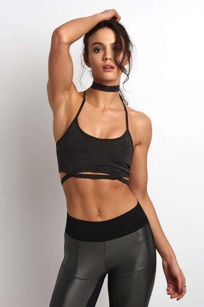 917b9a3bf7293 Free People Movement Infinity Bra - Charcoal image 1 - The Sports Edit