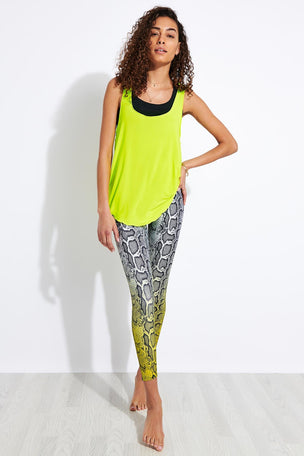 Onzie Glossy Flow Tank Top - Neon Yellow image 2 - The Sports Edit