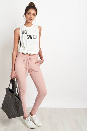 Free People Movement Sunny Skinny Sweatpants Pink image 4 - The Sports Edit