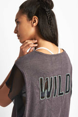 FP Movement Wild Mesh Graphic T-Shirt - Grey image 3 - The Sports Edit