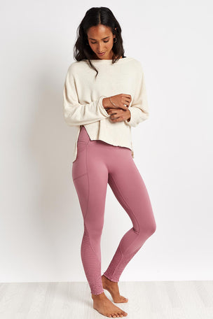 Free People Movement Be Good Terry Pullover - Sand image 4 - The Sports Edit