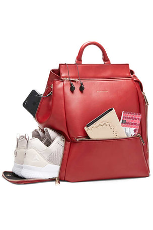 Fact+Fiction Charli Backpack Red image 5 - The Sports Edit