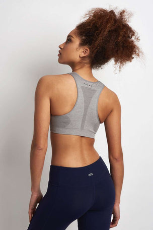 Falke Madison Low Impact Bra Top - Grey image 2 - The Sports Edit