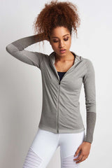 Falke Full Zip Long-Sleeved Top - Grey Melange image 1 - The Sports Edit