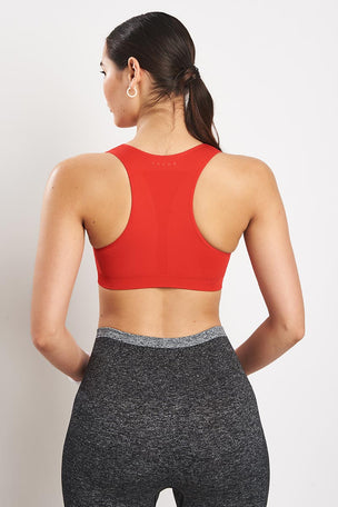 Falke Madison Low Support Sport Bra - Bloody Mary image 4 - The Sports Edit