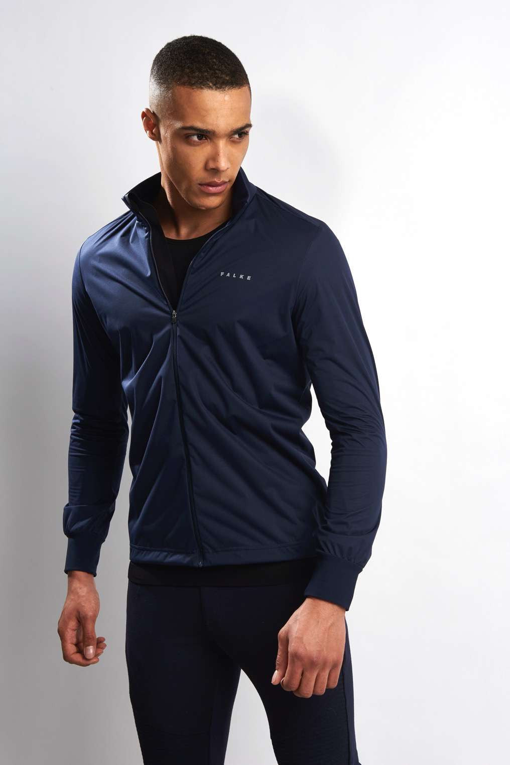 Falke RU Windbreaker Jacket Men's Navy image 1 - The Sports Edit
