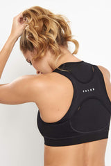 Falke Versatility High Support Zip Bra Top Black image 3 - The Sports Edit
