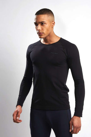 Falke Long-sleeved Comfort Shirt - Black image 1 - The Sports Edit