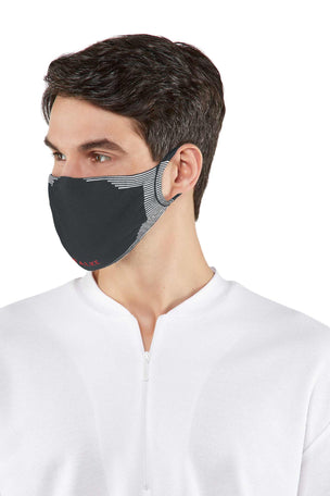 Falke 2-Pack Face Mask - Charcoal image 3 - The Sports Edit