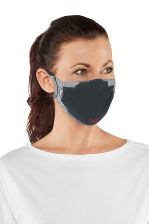 Falke 2-Pack Face Mask - Charcoal image 2 - The Sports Edit