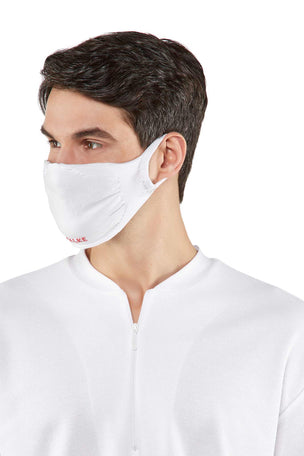 Falke 2-Pack Face Mask - White image 3 - The Sports Edit
