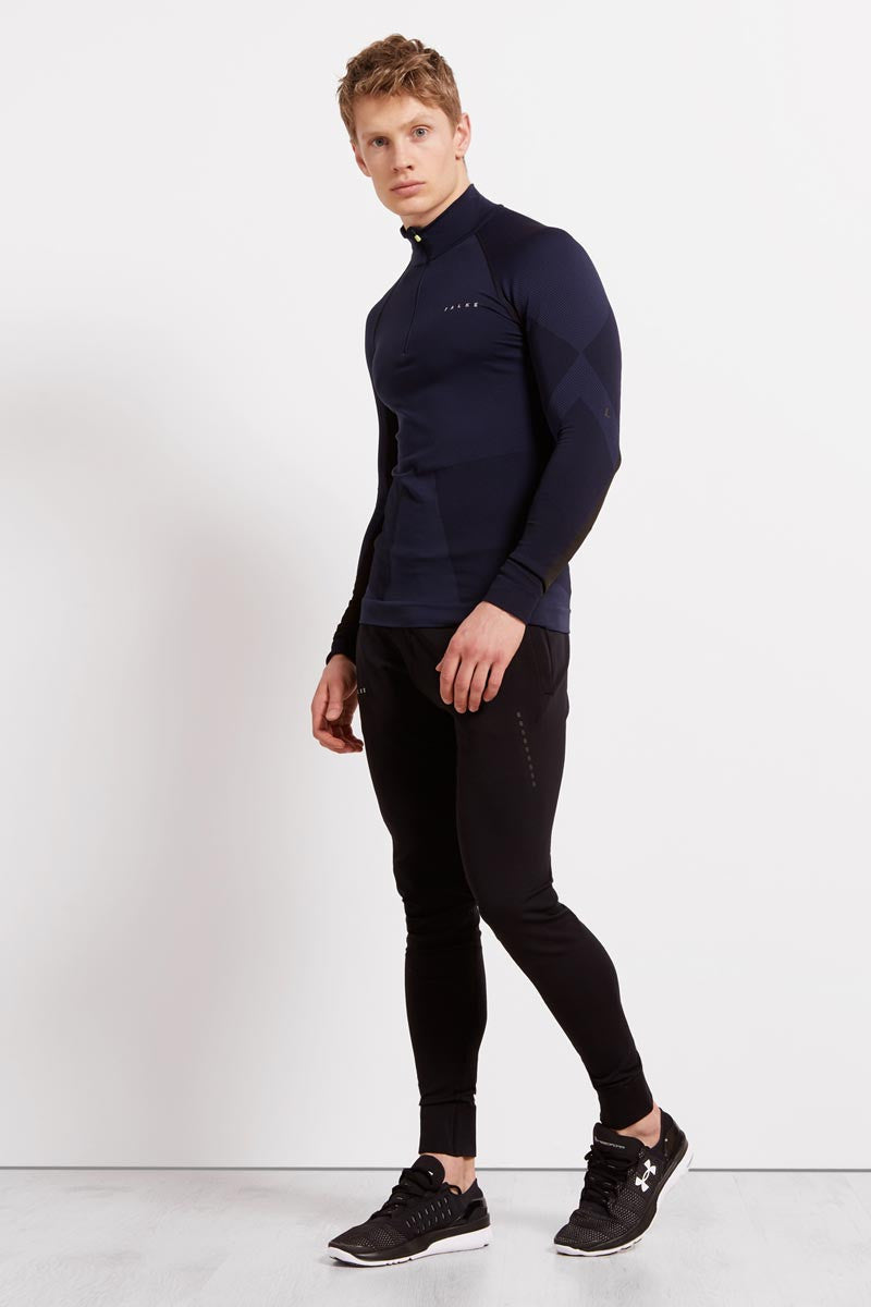 Falke Half-Zip Shirt - Space Blue image 4 - The Sports Edit