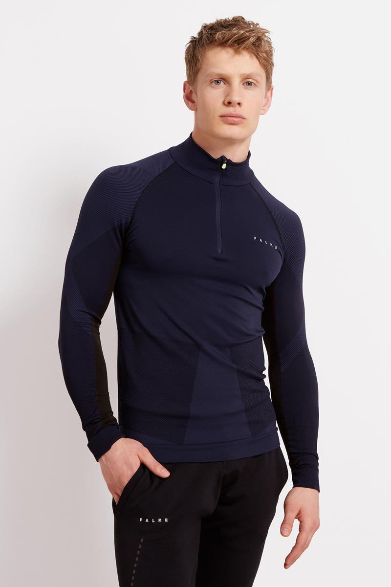 Falke Half-Zip Shirt - Space Blue image 1 - The Sports Edit