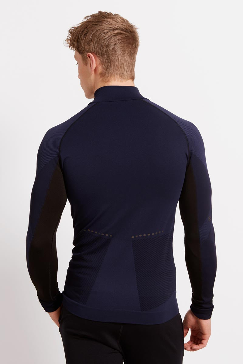 Falke Half-Zip Shirt - Space Blue image 2 - The Sports Edit