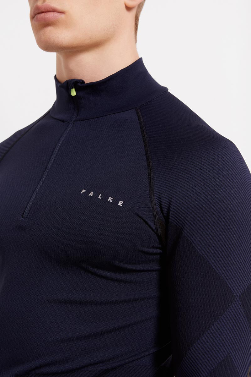 Falke Half-Zip Shirt - Space Blue image 3 - The Sports Edit
