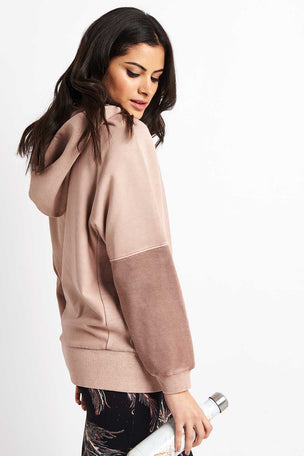 Free People Movement Hawking Hoodie - Taupe image 1 - The Sports Edit