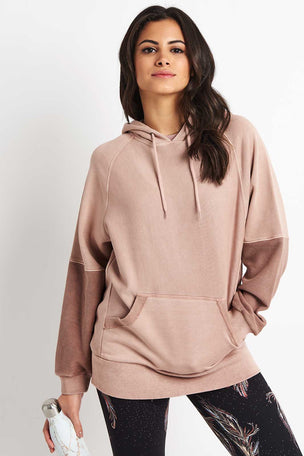 Free People Movement Hawking Hoodie - Taupe image 2 - The Sports Edit