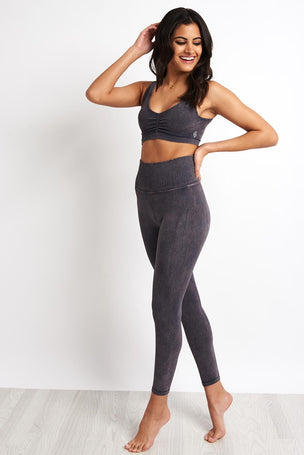 Free People Movement Shanti High Waist Leggings - Graphite image 4 - The Sports Edit