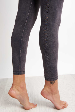 Free People Movement Shanti High Waist Leggings - Graphite image 3 - The Sports Edit