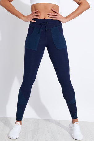 FP Movement Kyoto High Waisted Ankle Legging - Navy image 1 - The Sports Edit