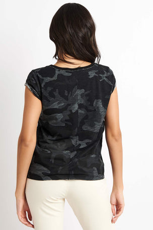 Free People Movement Camo Clare Tee - Black Combo image 2 - The Sports Edit