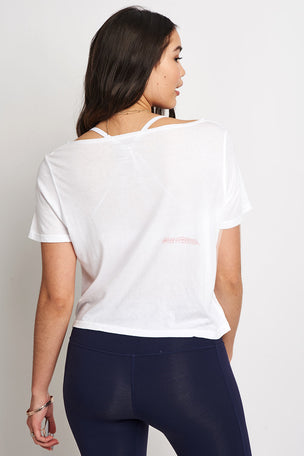 good hYOUman The Payton Crop Tee - Life Is A Party! image 4 - The Sports Edit