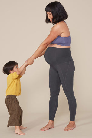 Girlfriend Collective The Maternity Legging - Smoke image 3 - The Sports Edit