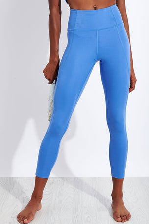 Girlfriend Collective Compressive High Waisted 7/8 Legging - Periwinkle image 1 - The Sports Edit