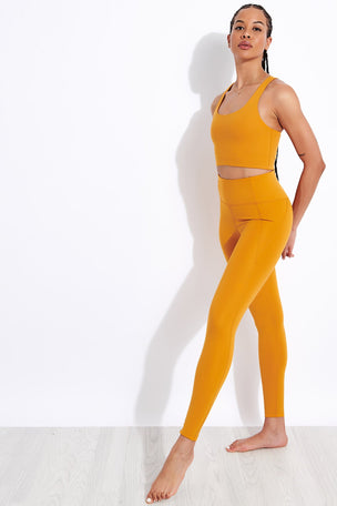 Girlfriend Collective Compressive High Waisted Legging - Honey image 2 - The Sports Edit