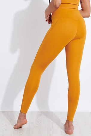 Girlfriend Collective Compressive High Waisted Legging - Honey image 3 - The Sports Edit