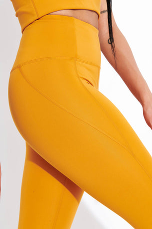 Girlfriend Collective Compressive High Waisted Legging - Honey image 4 - The Sports Edit